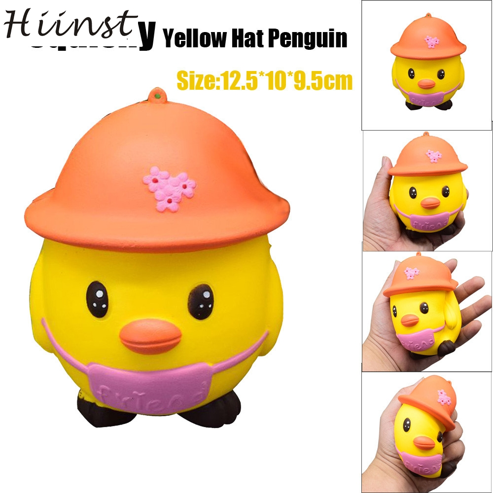 HIINST funny toys 2017 Yellow Hat Penguin squishy squishy slow rising Cream Scented Decompression Toys *R Drop