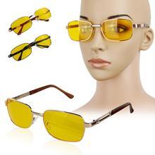 2016 модные очки УФ Солнцезащитные Очки Ночного Видения Вождения Очки Желтый объектив металл + Смола UV400 очки