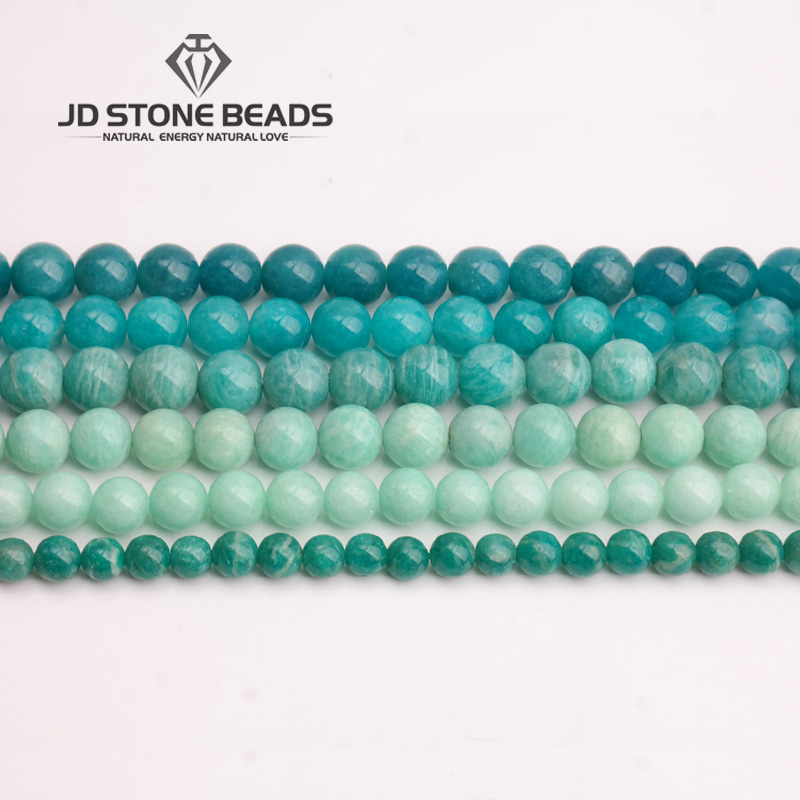 JD Stone Beads Free Shipping Natural Amazonite Beads Semi-Finished Handmade Bracelet Beads Accessory Personalized Fashion jasper цена 2017