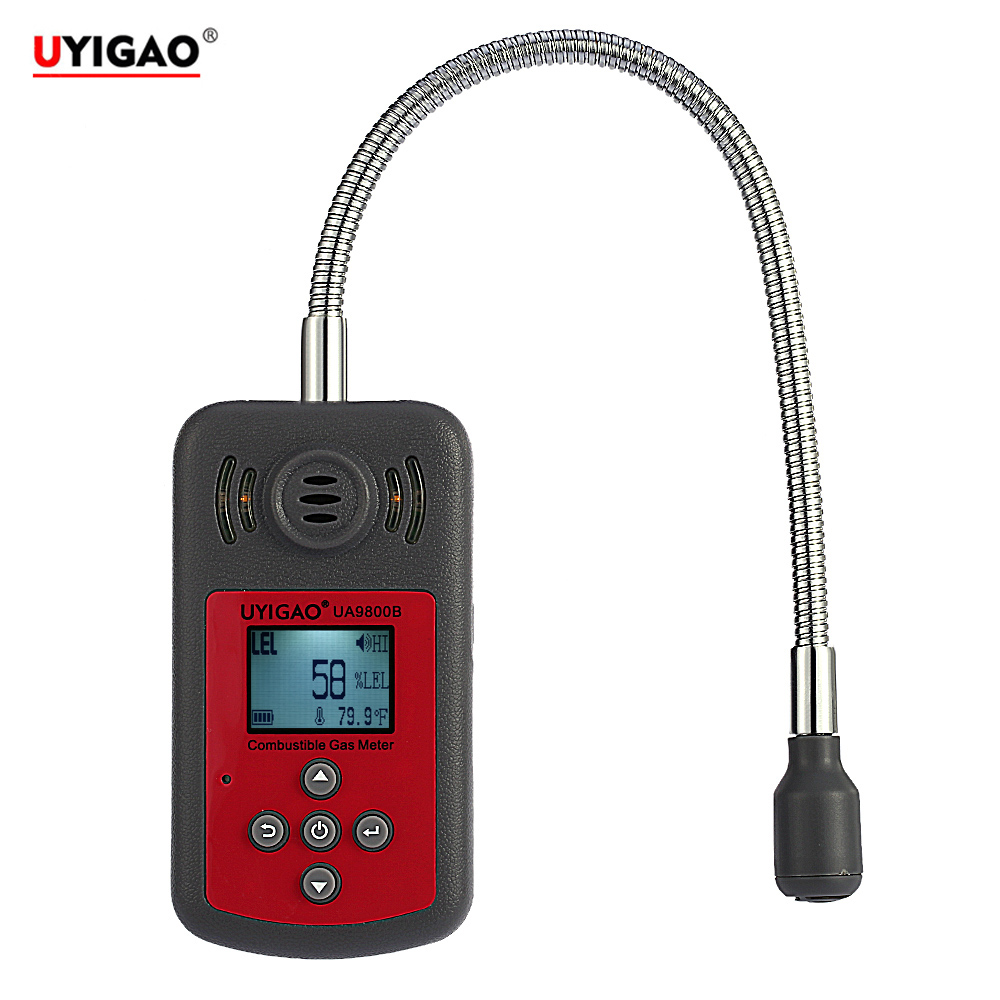 LCD Digital Combustible Gas Detector Automotive Gas Leak meter Location Determine Diagnostic tool with Sound Light Alarm-in Gas Analyzers from Tools    1