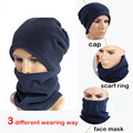 Free Shipping 40pcs 3 in 1 Multi-Function Scarf Neck Warmer Face Mask Hat Winter Cycling Hiking Beanie Men Women Sport Cap