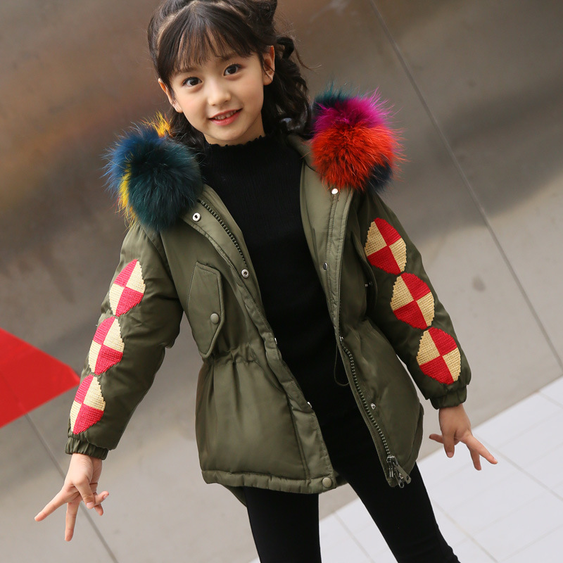 Children Winter Jacket Boys Girls Coat Children Down Jackets Outerwear Thick Warm Duck Down Kids Parkas Girls Clothing TZ245 motorcycle front
