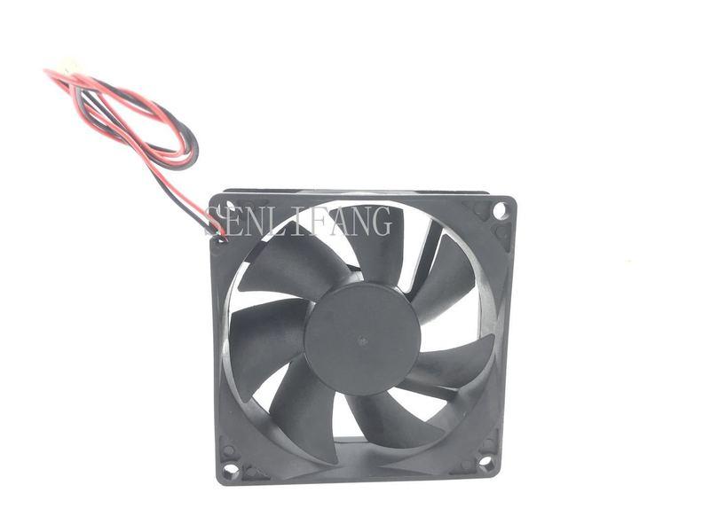 For DA08025B12UH 8025 DC12V 0.50A 80*80*25MM 8CM 4 Line Fan
