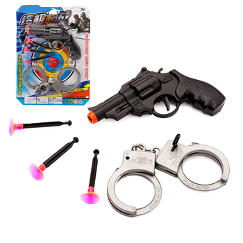 Police Handcuffs Toy airsoft gun pistol set Pretend Play Hand Cuffs Child Fancy Officer Costume Role Game Educational