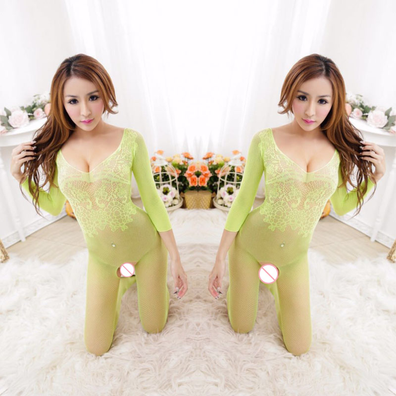 NDFSOUL Sexy Lingerie hot Bodysuit Sexy Costumes Intimate Women Bodystocking Plus Size Open Crotch Lenceria Erotica Mujer Sexi