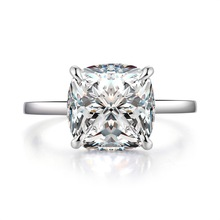 QYI 925 Silver for Women Engagement rings Wedding ring Superior grade zircon White Gold Color 5 ct Radiant cut Premium silver