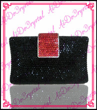 Aidocrystal  black Dazzling Sequins ladies bag and shoes set for party