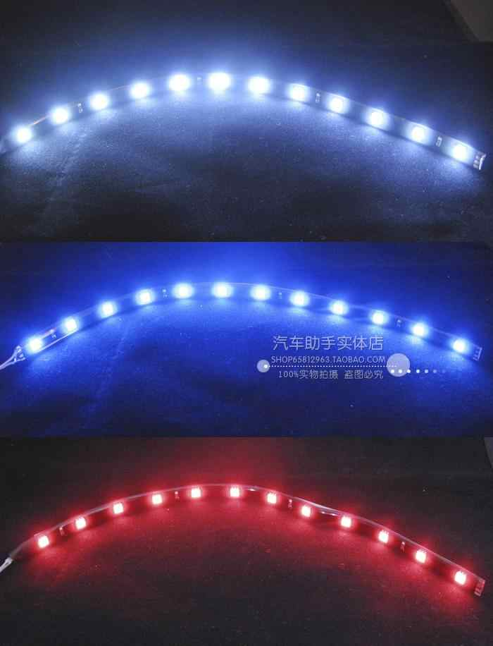 1Pcs 12V 30cm High Power LED Daytime Running lights DRL 100% Waterproof 5050 SMD Car Auto Decorative Flexible LED Strip Fog lamp