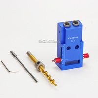 NEW 2PCS Lot Mini Kreg Style Pocket Hole Jig Kit System Wood Working Joinery With 3