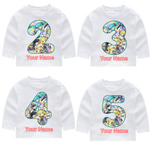 Boy and Girl Vocaloid Hatsune Miku Happy Birthday Long Sleeve T-shirts Kids Fall Tops Baby Harajuku Clothes