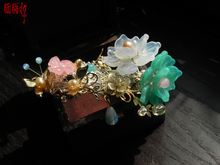 Hibiscus pince à ressort robinet à serrage original à la main utilisation quotidienne cheveux grip costume hanfu accessoire de cheveux bijoux de cheveux
