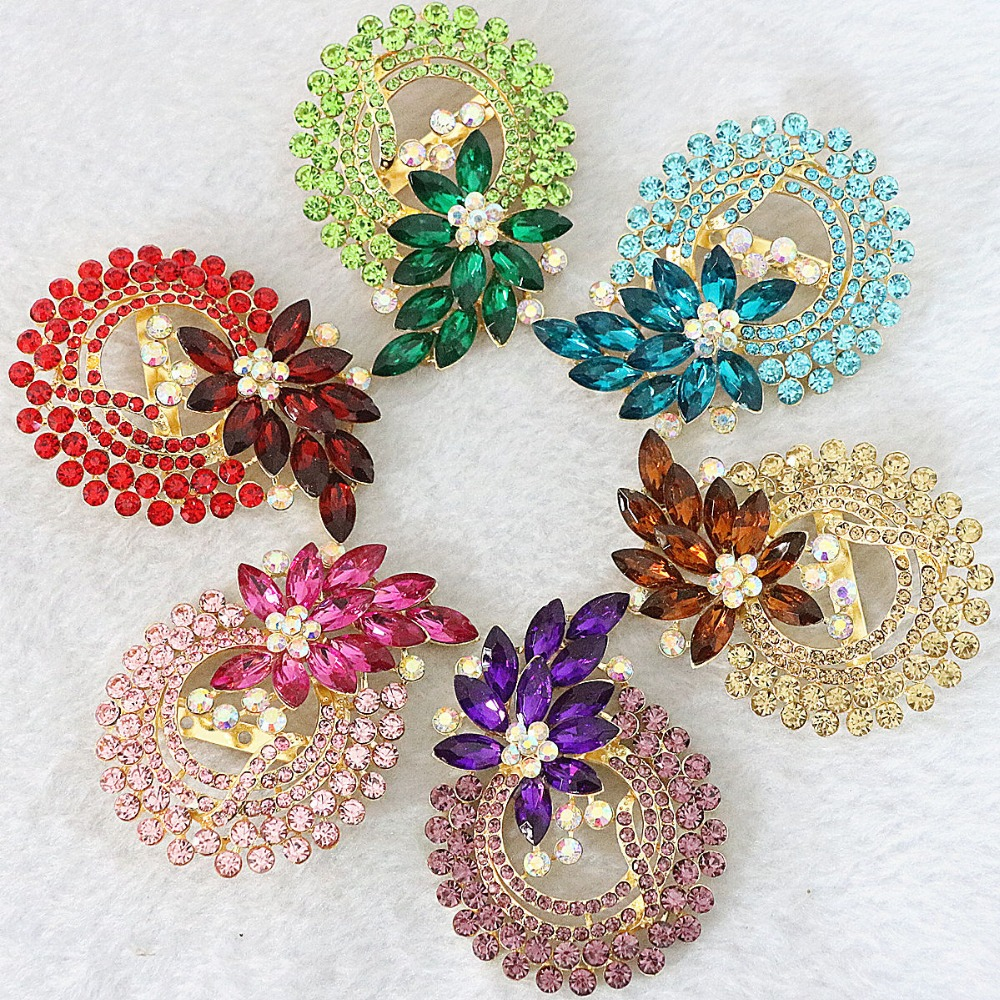 Fashion fruits pineapple brooch high grade rhinestones crystal charms weddings bouquet flower jewelry accessory B1232
