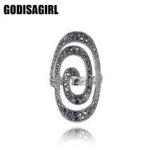 Novi Fashion Crystal Posrebreni Spiralni Prsten Žene za Elegantne Full Prst ljubavi Vjenčano Prstenje Nakit