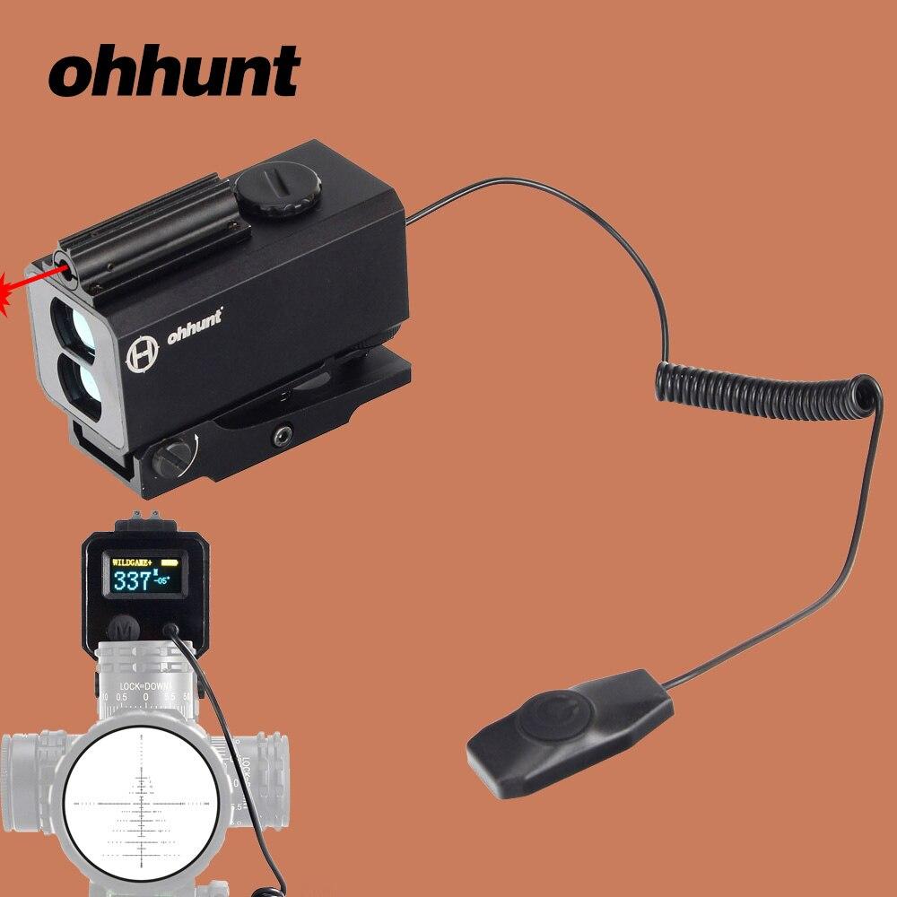 Ohhunt Tactique Laser Télémètre 5-700 m Laser Range Finder Mesure Laser Mètre de Distance Couleur OLED Affichage avec 20mm Rail