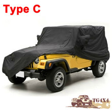 High Quality Car Covers for Jeep for Wrangler Carcover 2/4 Doors Waterproof UV-Proof Camouflage Silver Black Cover for Cars