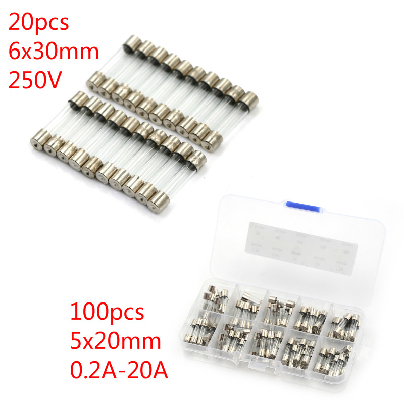 5x20mm Quick Blow Fast Acting Glass Fuse//Socket Amp 0.5A 1A 2A 3A 4A 5A-15A 250V