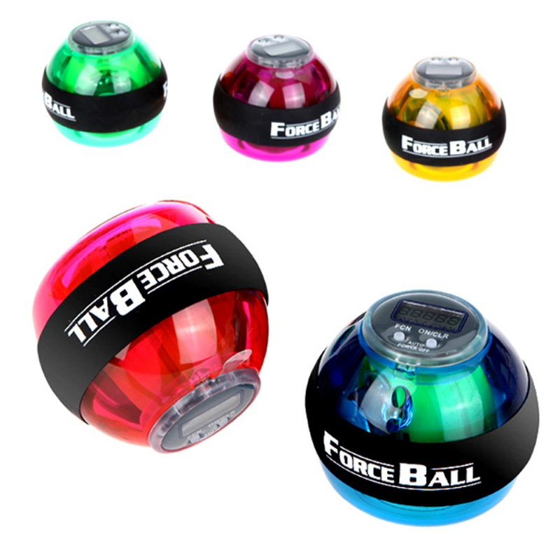 Bola de pulso Giroscópio Porceball Wristball Giroscópio Bola Pulso Exercitador Strengthener Power Force Atlético Velocidade de Mão Giratório com LED