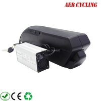 High power China Lithium ion 48V 10Ah tiger shark down tube Li ion electric bicycle battery for fat tire bike with charger