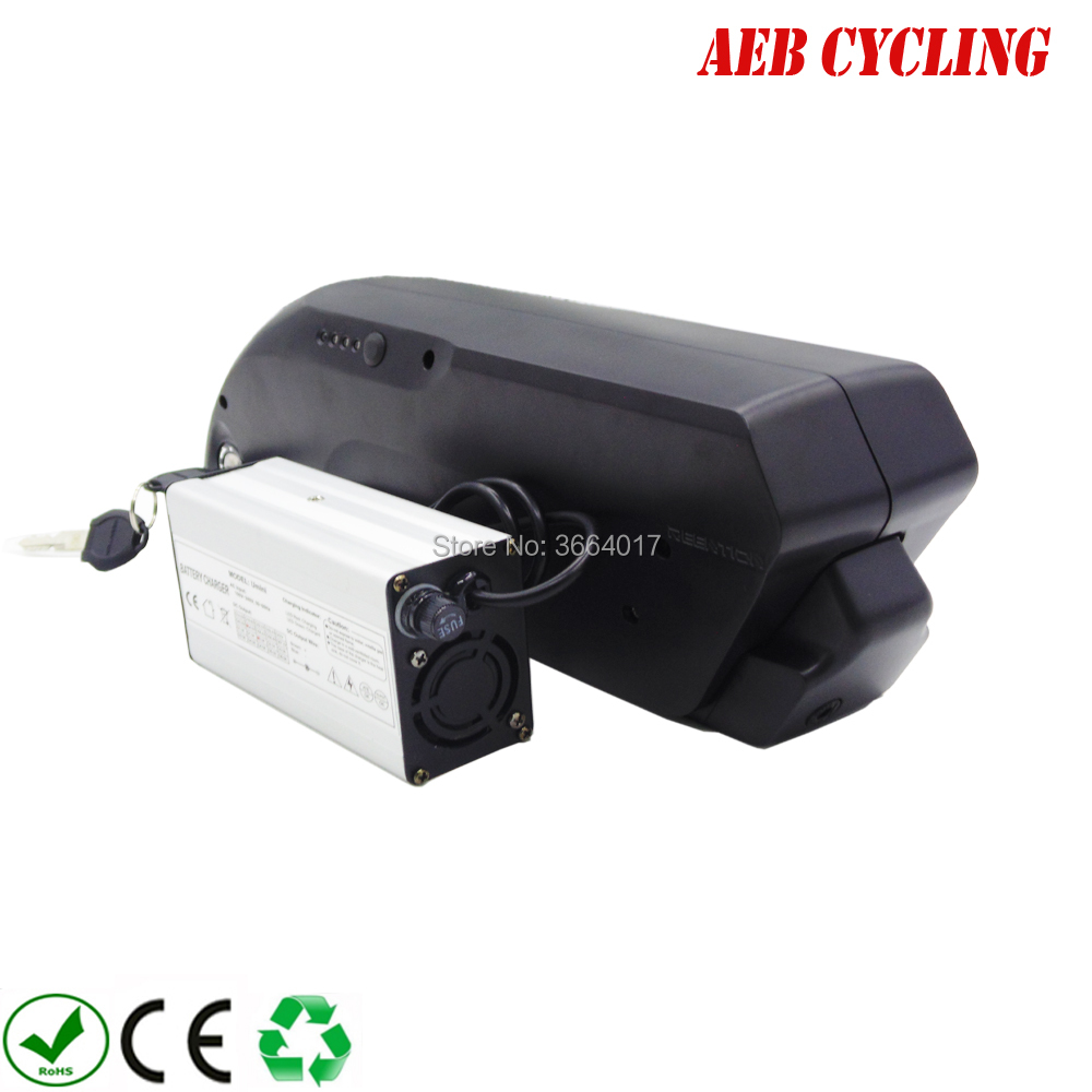 High power China Lithium ion 48V 10Ah tiger shark down tube Li-ion electric bicycle battery for fat tire bike with charger hailong down tube electric bike battery 48v 14ah lithium ion ebike battery pack with capacity display charger for fat tire bike