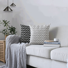цены Modern Wave Pattern Embroidered Pillow Cover Top Quality Cushion Cover Throw Dog Soft Cotton Pillowcase For Living Room Sofa Car