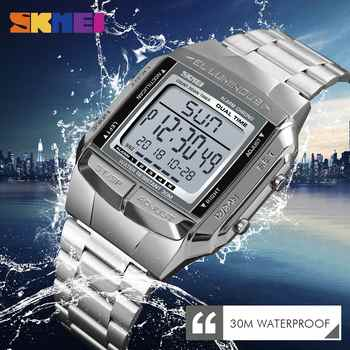 SKMEI Outdoor Sports Watch Men Clock Led Digital Watch Alarm Countdown Watches Mirror Clock Fashion Wristwatch Relogio Masculino - DISCOUNT ITEM  40% OFF Watches