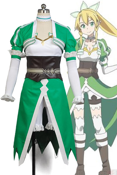 HOT Sword Art Online cosplay  Leafa Suguha Kirigaya costume Carnival Halloween Cosplay full set Costume for women dress