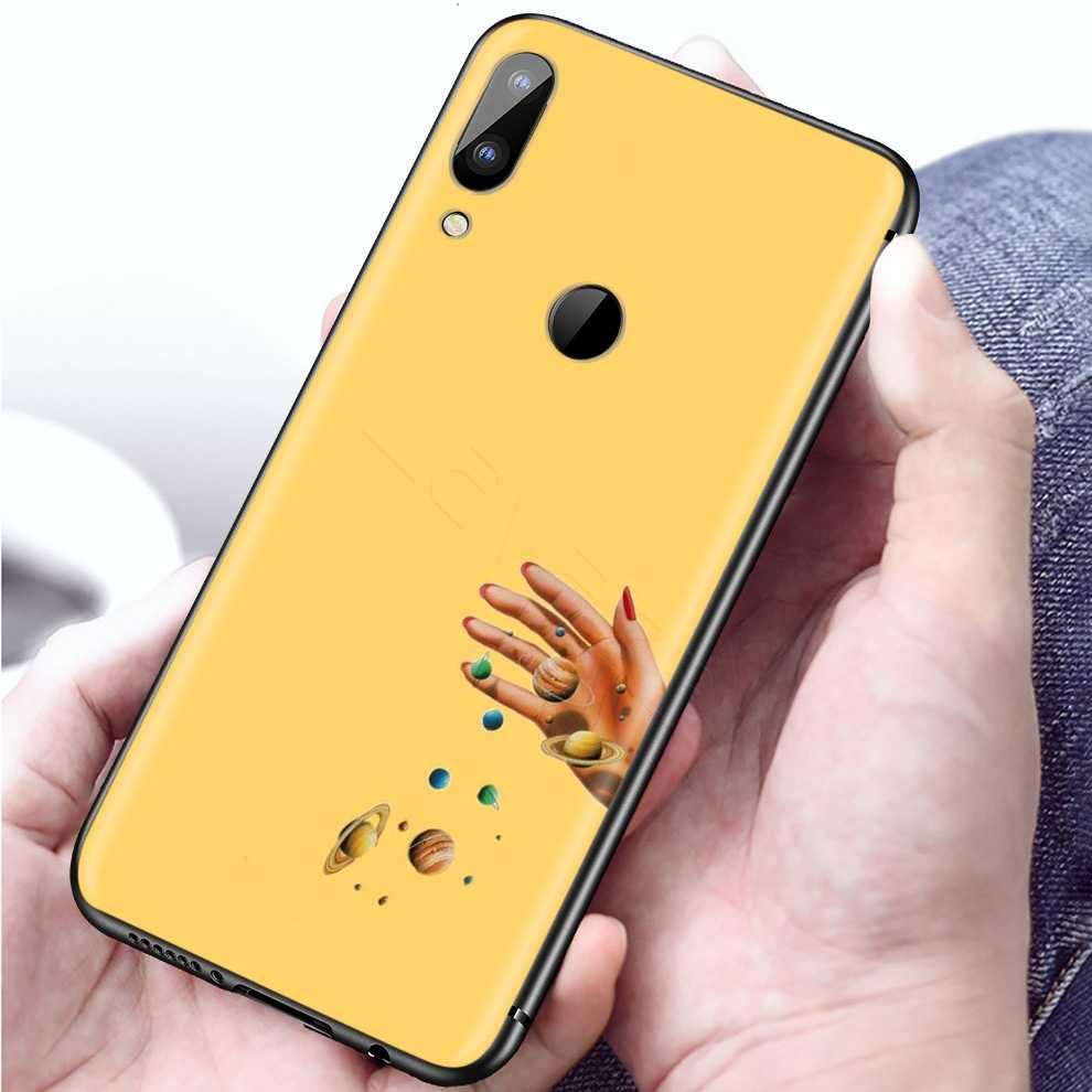 Lavaza esthétique jaune peinture à l'huile étui pour Xiaomi Redmi Note 8 8A 7 6 6A 5 5A 4 4X 4A Go Pro Plus Prime