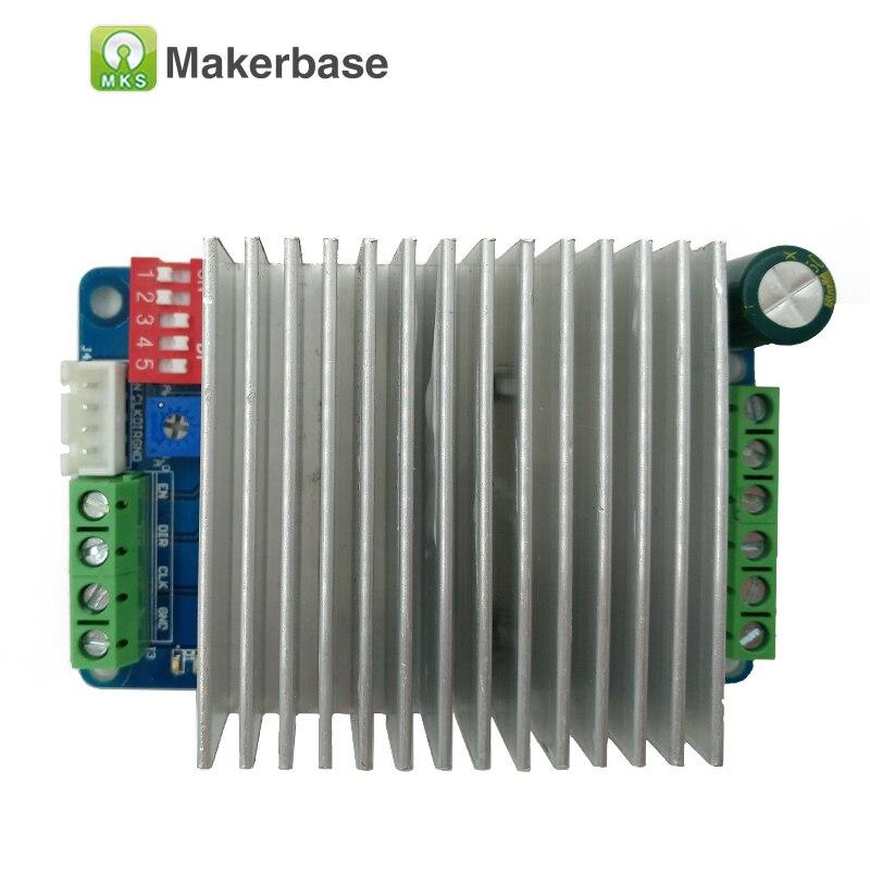 MKS LV8727 driver de motor de passo CNC steper módulo 4A Max 128 microstep unidade stepping controlador ultra silencioso com grande dissipador de calor