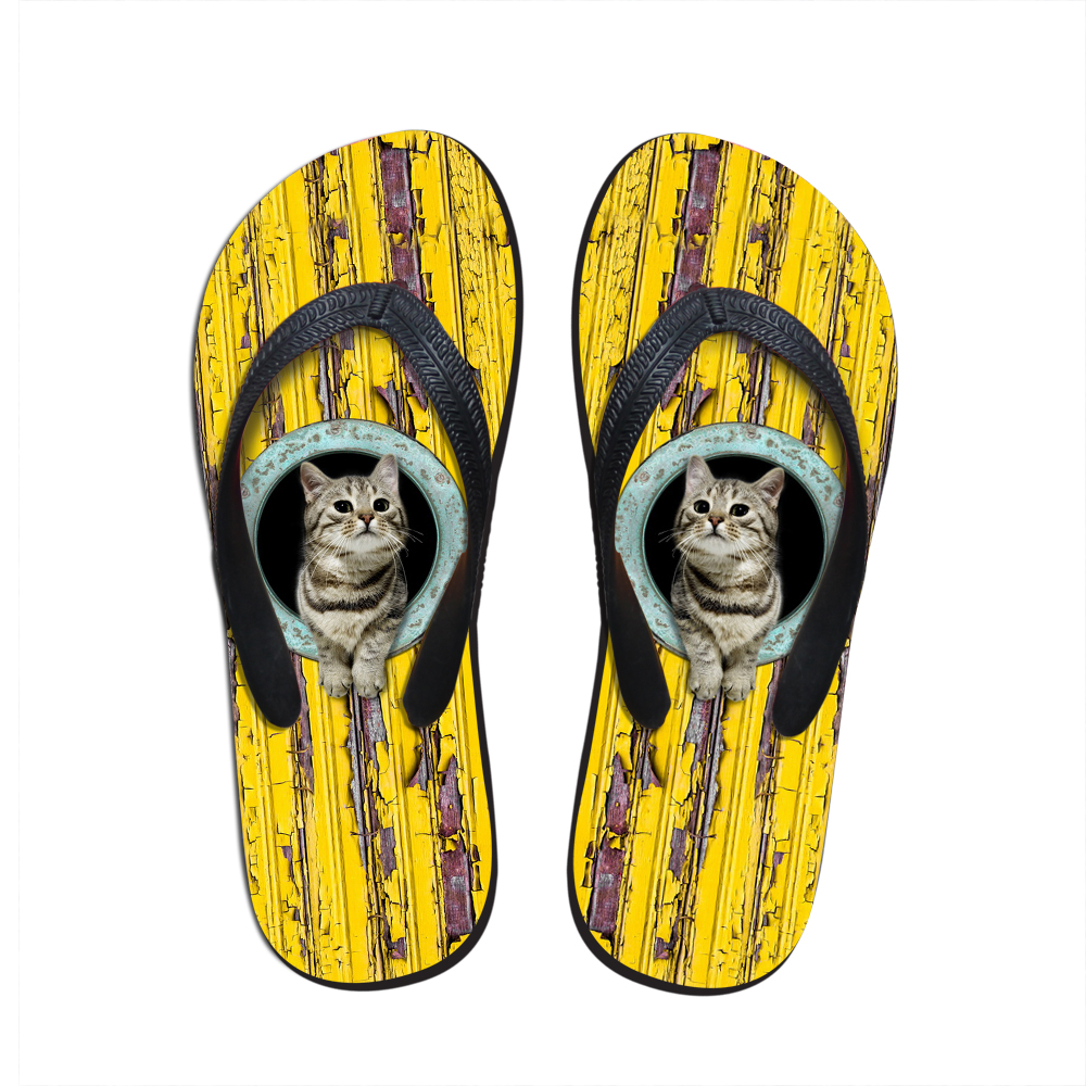 2016 New Fashion Summer Hot Women Sandals Cute Pet Cat Flip Flops 3D Animal Dog Printing Slippers Female Beach Flat Rubber Shoes portable clinic clinical pet animal dog and cat refractometer rhc 300 atc blood protein serum urine plasma