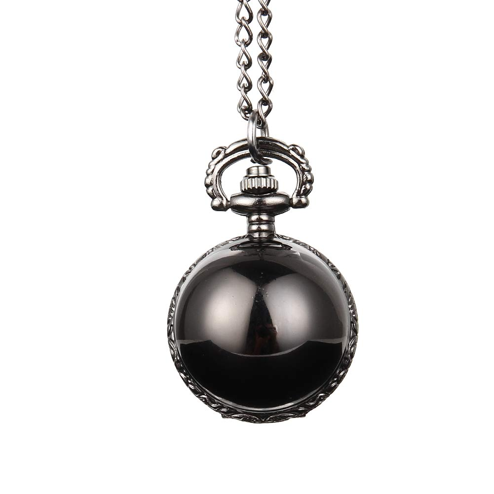 Elegant Snitch Quartz Fob Pocket Watch With Sweater Necklace Chain Jewelry Gifts LL@17 2017 hot sell quartz pocket watch fob watches vintage hollow necklace pendant retro clock with chain gifts ll 17