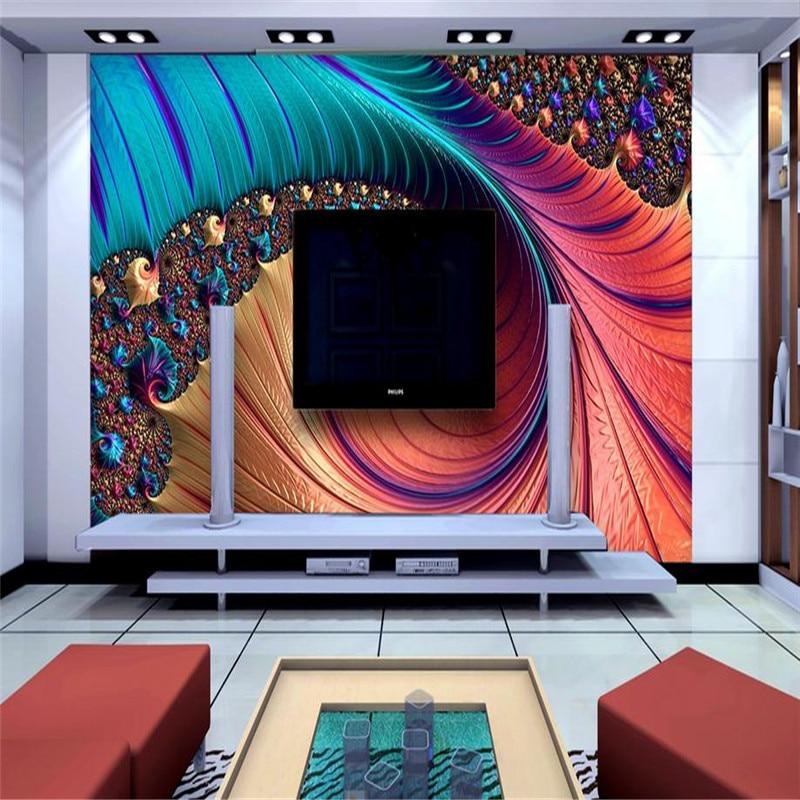 modern custom 3d HD wallpaper large living room bedroom TV background wall mural nordic colorful luxury beautiful wallpaper
