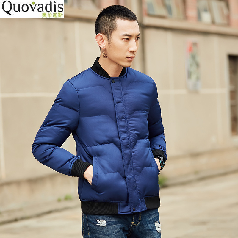winter Baseball Coltsfoot Coat Keep Windbreak Frivolous Lead Cotton padded Male short jacket font b parka