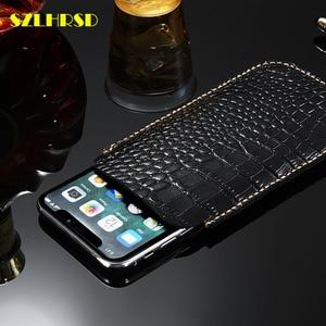 Image 4 - Oneplus um Genuíno de Couro sacos de telefone OnePlus 7 Pro 6 7 OnePlus Casos Virar tampa slim bolsa ponto manga T 6 5 5t 3 3t x 2