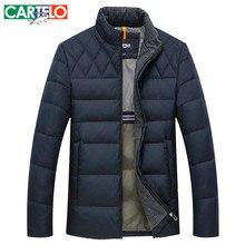 CARTELO/Marke Winter Dünne 90% Ente S-XXXL Beiläufige Businese Daunenjacke Winter Stehkragen Männlichen Jacken Warmen Dicken Mantel für Männer