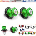 Green Swingarm Sliders Spools 10MM For KAWASAKI NINJA 250R 88-14, NINJA 300 13-15, NINJA 400R 10-12, NINJA 650R 06-15 Z250 13-15