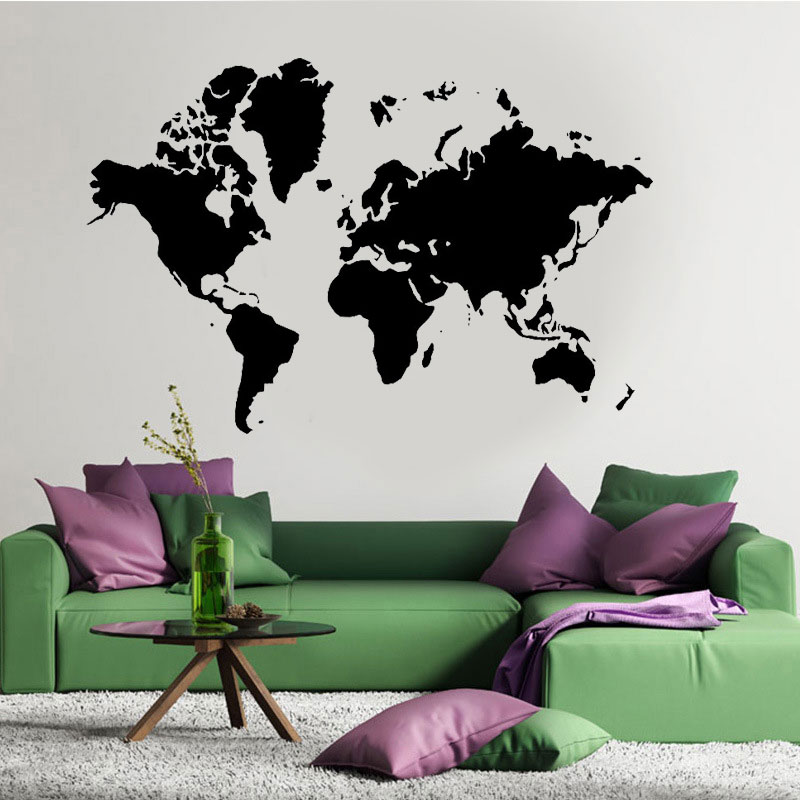World Map Wall Art Vinyl Stickers Home Decor Removable Mural Earth Vinyl Transfer Graphic Decal Decor Globe Stencil C409 Wall Stickers Aliexpress