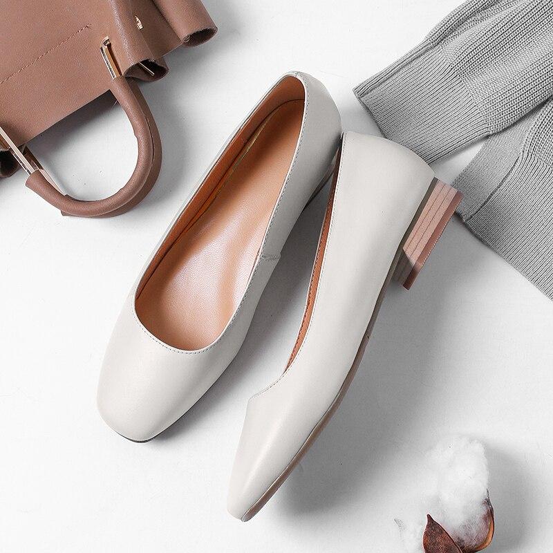 5 6 Bas Talon D'emballage 8804 Robe white D'été Chaussures 2 Cuir Cm Chunky Véritable De Pompes Femmes Blanc on Pur Talons pink Slip Boîte Black pInqw10t