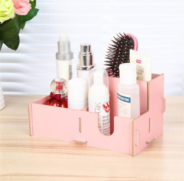 Aliexpresscom Buy Diy Wooden box creative makeup organizer
