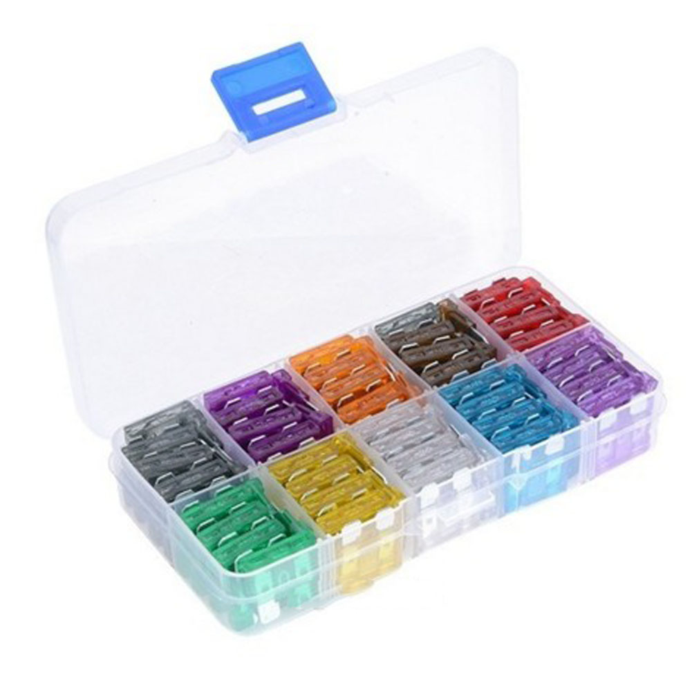100 pcs/pack Standard Auto Car Blade Fuse Assortment Kit Using For Car Motorcycle 2A-35A