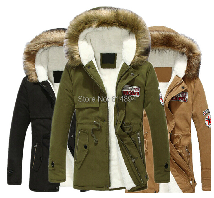2017 New Winter Men Fashion Plus Thick Velvet Warm hooded parka Couples Cotton-Padded Clothes  leisure big yards warm coat