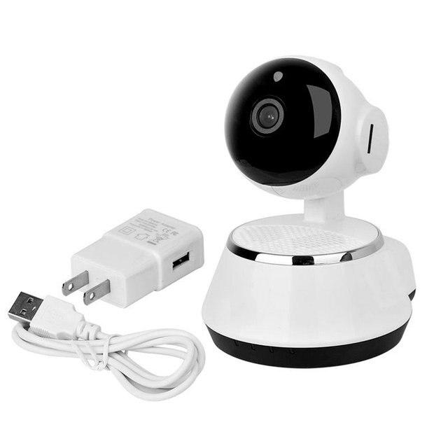 2017 กล้อง IP ไร้สาย WIFI 720P กล้องวงจรปิดระบบรักษาความปลอดภัยภายในบ้าน Micro Sd สนับสนุน Microphone & P2P APP ฟรีพลาสติก ABS