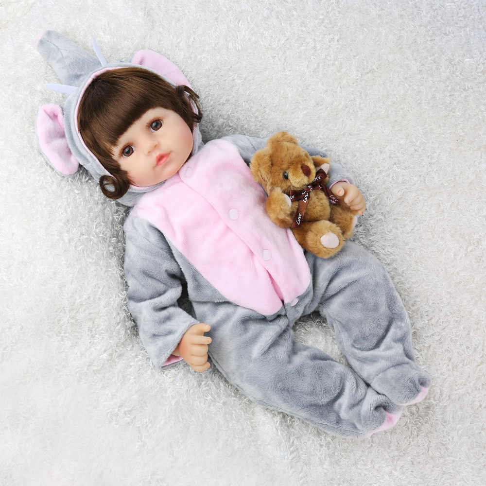 NPK Baby Alive 45 см Мягкая силиконовая кукла реборн игрушки 18 дюймов bebes Reborn игрушки Реалистичные Новорожденные Juguetes детские игрушки Brinquedos