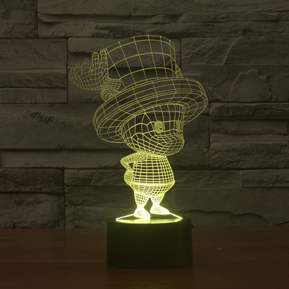 Tony Tony Chopper Home Decor USB Lamp Flash Party Atmosphere Luminarias Touch 7 Colors Changeing LED Illusion Nightlight Lampara