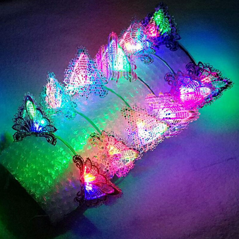 Light Up Flashing Led Bracelets Wristband Glow in The Dark Slap Stick Glowing Band For Weddings Birthdays Halloween Christmas Xmas Party Favors Supplies Kids Adults Boys Girls 6 Colors