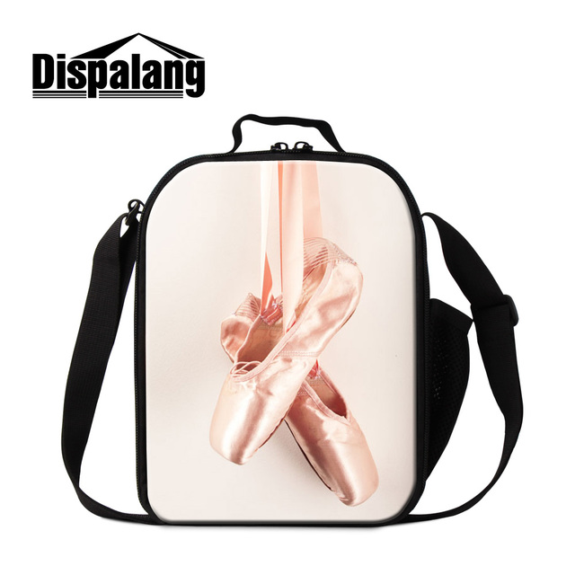 Dispalang стильный балет носок обуви печати изолированные обед кулер мешки для девушки женщины прекрасный балет мультфильм lunch box для работы