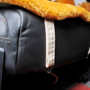 Image 3 - אוסטרלי טהור טבעי צמר מושב כיסוי עבור קדמי מושב חורף כרית מכונית באיכות גבוהה 100% אמיתי צמר כבש מושב מכסה