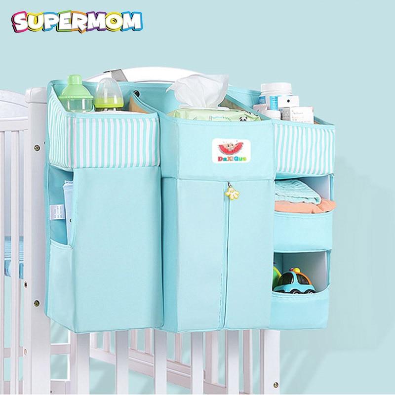 Baby Crib Bed Hanging Storage Bag Baby Bed Organizer Newborn Cot Crib Bedding Set Child Kid Storage Pockets Diaper Bag