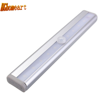 Thanksgiving Day Infrared IR LED Wall Lights led light lamp battery power for Pathway Staircase Wall lamp 10LED night light with motion sensor