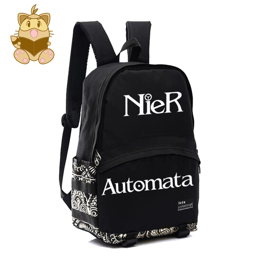 NIER AUTOMATA backpack high quality NYLON game fans daily use gift for game fans NB037 asus original ga h81m hd3 motherboard h81 ddr3