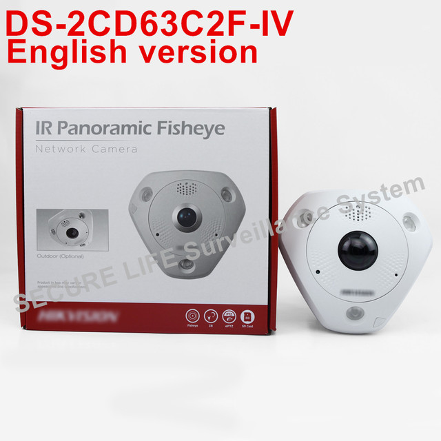 Free shipping ds 2cd63c2f iv english version12mp fisheye network free shipping ds 2cd63c2f iv english version12mp fisheye network camera 360 degree view angle sciox Image collections
